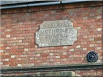 SK7431 : Datestone, Harby Methodist Chapel by Alan Murray-Rust