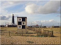 TR0916 : Dungeness: foghorn - and old lighthouse by Stefan Czapski