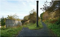 NS3074 : Path leaving the cycle route above Gibshill by Lairich Rig