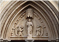 TQ1874 : St Matthias, Richmond - Tympanum by John Salmon