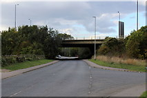 TQ5571 : Hawley Road approaching the A2 Flyover by Chris Heaton