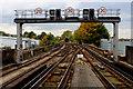 TQ5474 : Railway Lines running West from Dartford Station by Chris Heaton