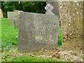 SK8632 : Belvoir Angel headstone, Denton churchyard by Alan Murray-Rust