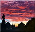 SK5768 : Unusual sunset, Eastlands Lane by Andy Stephenson