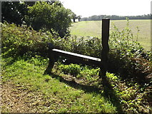 TG0723 : Mile Marker Sculpture on Marriott's Way by Adrian Cable
