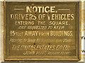 SJ9097 : Old Notice, Fairfield Moravian Settlement by David Dixon