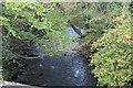 ST2193 : River Ebbw north of Chapel Farm Terrace by M J Roscoe