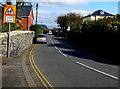 SH5800 : Ysgol/School warning sign, Neptune Road, Tywyn by Jaggery