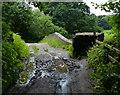 SD5009 : Muddy track crossing Gillibrand Bridge No 40 by Mat Fascione