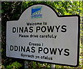 ST1471 : Bilingual Welcome/Croeso sign, Dinas Powys by Jaggery