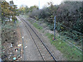 TQ5288 : Romford to Upminster line taken from the Victoria Road bridge by Phil Gaskin