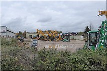 SX9289 : A depot for JCB vehicles, Marsh Barton, Exeter by David Smith