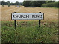 TL9222 : Church Road sign by Adrian Cable