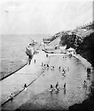 NZ3672 : Paddling Pools and Promenade under construction, Whitley Bay by The late Miss I H Perkins