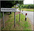 SO5921 : Coughton boundary sign by Jaggery