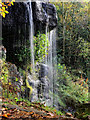 SK2670 : Waterfall in Stand Wood - the Sowter Stone by Andy Stephenson