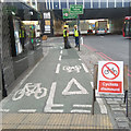 TQ3380 : No Cycling in Mansell Street by Roger Jones