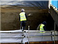 H4572 : Workmen, Omagh by Kenneth  Allen