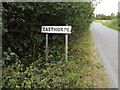 TL9121 : Easthorpe Village Name sign on Easthorpe Road by Adrian Cable