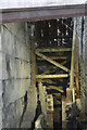 ST6867 : Saltford Brass Mill - derelict waterwheel by Chris Allen