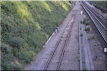 TQ3226 : Branch off Brighton Main Line by N Chadwick