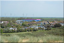 TQ9618 : View towards Pontins, Camber Sands by N Chadwick
