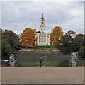 SK5437 : Trent Building across the lake by John Sutton