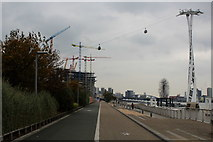 TQ3979 : Approaching the Emirates Air Line Cable Car Ride by Chris Heaton