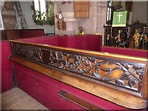 NY6820 : A curious woodcarving in St Lawrence's church by David Smith