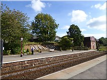 NY6820 : The southbound platform, Appleby railway station by David Smith