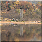 NM9080 : Glenfinnan Monument in autumn by Doug Lee