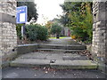 SJ8746 : Shelton: steps up to St Mark's Church by Jonathan Hutchins
