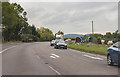 SP0339 : Travellers camp on the A46 by J.Hannan-Briggs