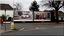 SO8317 : JCDecaux advertising hoardings, Stroud Road, Gloucester by Jaggery