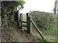 SJ7947 : Stile on footpath near Scot Hay by Jonathan Hutchins