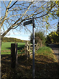 TL1814 : Footpath sign off Codicote Road by Geographer