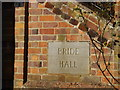 TL1915 : Bride Hall sign by Adrian Cable