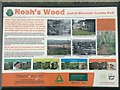 SJ8146 : Silverdale Country Park: information board for Noah's Wood by Jonathan Hutchins