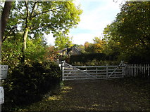 TL1614 : Entrance to Croft Farm by Adrian Cable