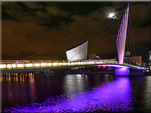 SJ8097 : MediaCity Bridge by David Dixon