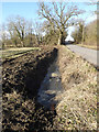 TM3667 : Newly Dug Ditch off Rendham Road by Adrian Cable