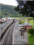SJ1143 : Carrog Station in Denbighshire by Roger  Kidd