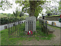SX5467 : Memorial in Meavy village by Phil Gaskin