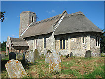 TM3898 : The church of St Gregory in Heckingham by Evelyn Simak
