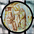 TM3288 : All Saints church in Earsham - stained glass by Evelyn Simak