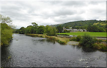 SJ1143 : The River Dee east of Carrog in Denbighshire by Roger  Kidd