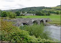 SJ1143 : Pont Carrog across the River Dee in Denbighshire by Roger  Kidd