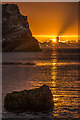 SY8279 : Sunrise at Lulworth Cove by Ian Capper
