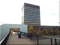 NZ2956 : Pedestrian walkway and office block, Washington by Malc McDonald