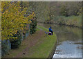 SO9784 : Fisherman on the Dudley No.2 Canal by Mat Fascione